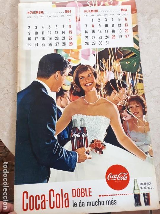 Coleccionismo de Coca-Cola y Pepsi: 1964 Coca-Cola. Calendario Completo. Impreso por Seix Barral (Barcelona) - Foto 6 - 130827012