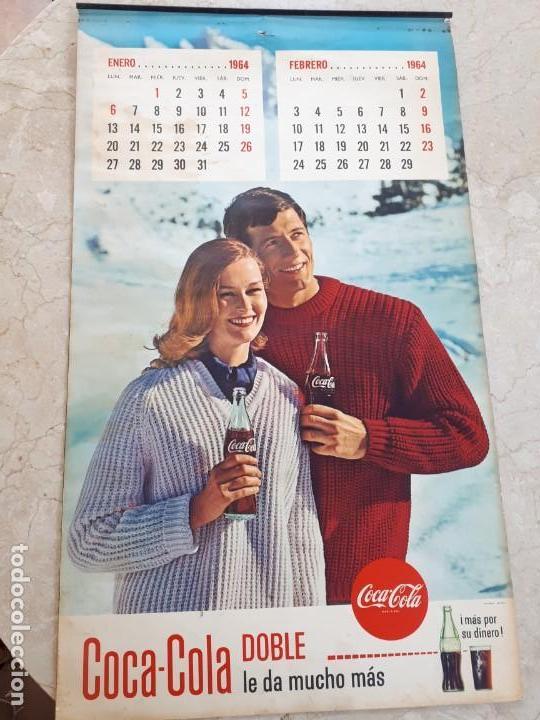 1964 COCA-COLA. CALENDARIO COMPLETO. IMPRESO POR SEIX BARRAL (BARCELONA) (Coleccionismo - Botellas y Bebidas - Coca-Cola y Pepsi)