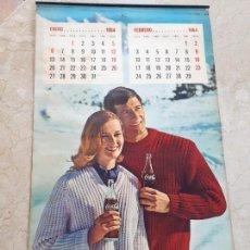 Coleccionismo de Coca-Cola y Pepsi: 1964 COCA-COLA. CALENDARIO COMPLETO. IMPRESO POR SEIX BARRAL (BARCELONA). Lote 130827012