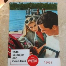 Coleccionismo de Coca-Cola y Pepsi: 1967 COCA-COLA. CALENDARIO MAYO JUNIO. IMPRESO POR SEIX BARRAL EN 1966. TODO VA MEJOR CON COCA-COLA.. Lote 130827572