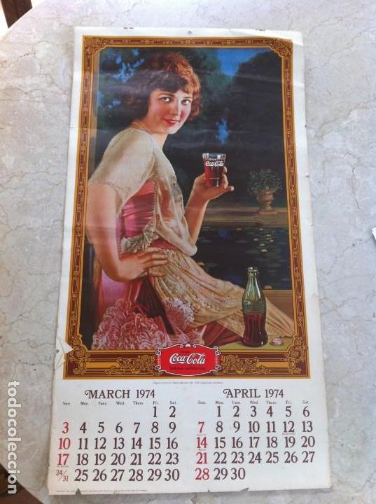 Coleccionismo de Coca-Cola y Pepsi: 1974 Coca-Cola. Calendario Completo pero con las hojas sueltas. Americano. Original - Foto 2 - 130828700