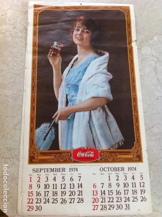Coleccionismo de Coca-Cola y Pepsi: 1974 Coca-Cola. Calendario Completo pero con las hojas sueltas. Americano. Original - Foto 3 - 130828700