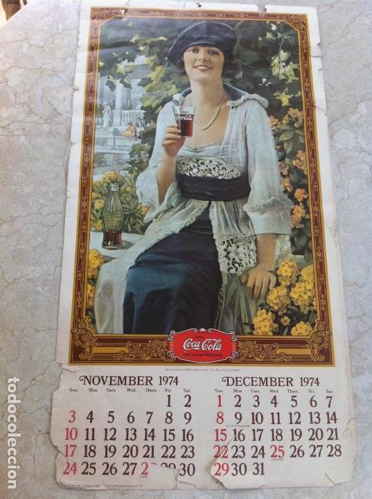Coleccionismo de Coca-Cola y Pepsi: 1974 Coca-Cola. Calendario Completo pero con las hojas sueltas. Americano. Original - Foto 4 - 130828700