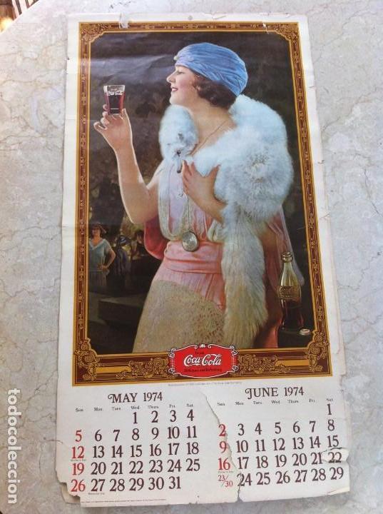 Coleccionismo de Coca-Cola y Pepsi: 1974 Coca-Cola. Calendario Completo pero con las hojas sueltas. Americano. Original - Foto 5 - 130828700