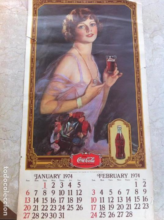 1974 COCA-COLA. CALENDARIO COMPLETO PERO CON LAS HOJAS SUELTAS. AMERICANO. ORIGINAL (Coleccionismo - Botellas y Bebidas - Coca-Cola y Pepsi)