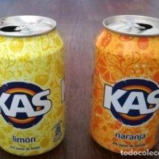 Coleccionismo de Coca-Cola y Pepsi: LOTE 2 LATAS KAS LIMON Y NARANJA 0,33 L. BOTE CAN LATA. Lote 131080728