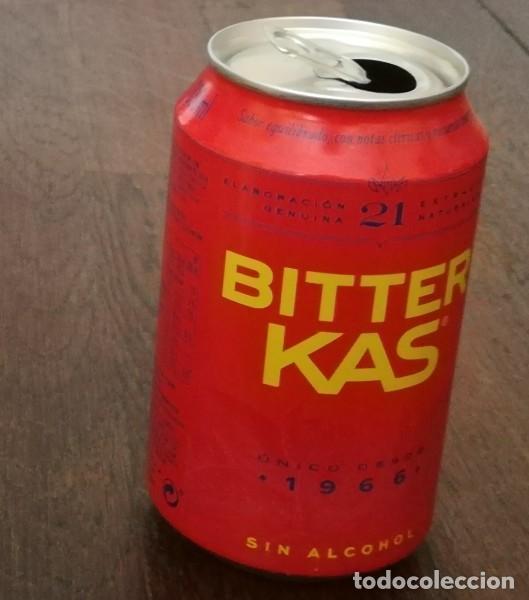 Coleccionismo de Coca-Cola y Pepsi: LATA BITTER KAS SIN ALCOHOL 0,33 L. BOTE CAN 1966 - Foto 2 - 131080808