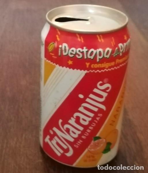 LATA TRINA NARANJA 0,33 L. BOTE CAN DESTAPA LA PRIMAVERA TRINARANJUS SUZUKI VITARA (Coleccionismo - Botellas y Bebidas - Coca-Cola y Pepsi)