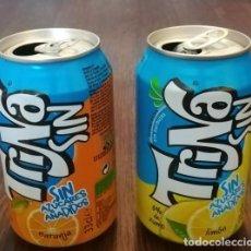 Coleccionismo de Coca-Cola y Pepsi: LOTE 2 LATAS TRINA LIMON Y NARANJA 0,33 L. BOTE CAN TRINARANJUS SIN AZUCARES AÑADIDOS. Lote 131081208