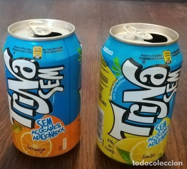 Coleccionismo de Coca-Cola y Pepsi: LOTE 2 LATAS TRINA LIMON Y NARANJA 0,33 L. BOTE CAN TRINARANJUS SIN AZUCARES AÑADIDOS - Foto 2 - 131081208
