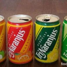 Coleccionismo de Coca-Cola y Pepsi: LOTE 4 LATAS TRINA MANZANA LIMON NARANJA PIÑA 0,33 L. BOTE CAN TRINARANJUS. Lote 131081288