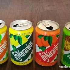Coleccionismo de Coca-Cola y Pepsi: LOTE 4 LATAS TRINA MANZANA LIMON NARANJA PIÑA 0,33 L. BOTE CAN TRINARANJUS. Lote 131081348