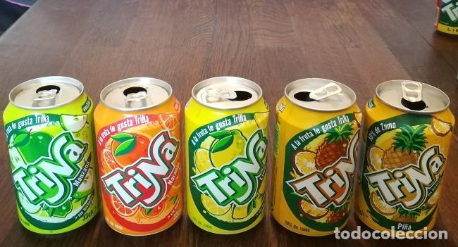 LOTE 5 LATAS TRINA MANZANA LIMON NARANJA PIÑA 0,33 L. BOTE CAN TRINARANJUS (Coleccionismo - Botellas y Bebidas - Coca-Cola y Pepsi)