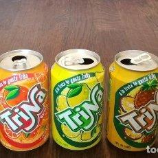 Coleccionismo de Coca-Cola y Pepsi: LOTE 5 LATAS TRINA MANZANA LIMON NARANJA PIÑA 0,33 L. BOTE CAN TRINARANJUS. Lote 131081444