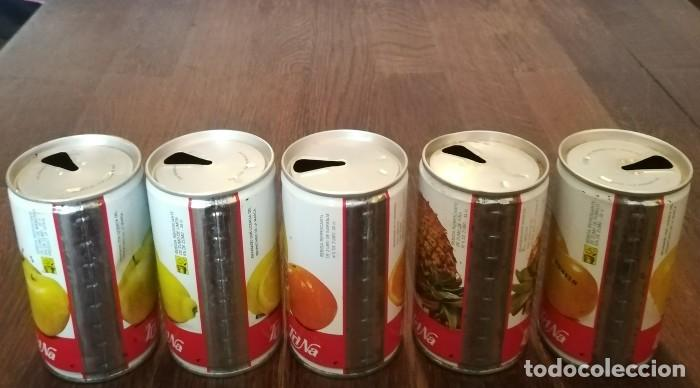 Coleccionismo de Coca-Cola y Pepsi: LOTE 5 LATAS TRINA MANZANA LIMON NARANJA PIÑA POMELO 0,33 L. BOTE CAN TRINARANJUS LATERAL SOLDADO - Foto 2 - 131081488
