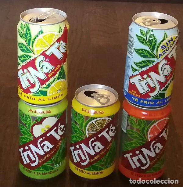 LOTE 5 LATAS TRINA TE MANZANA LIMON NARANJA MELOCOTON 0,33 L. BOTE CAN TRINARANJUS (Coleccionismo - Botellas y Bebidas - Coca-Cola y Pepsi)