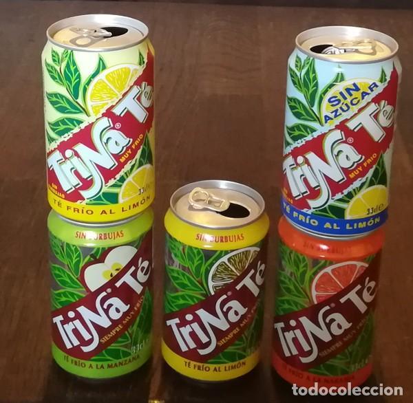 Coleccionismo de Coca-Cola y Pepsi: LOTE 5 LATAS TRINA TE MANZANA LIMON NARANJA MELOCOTON 0,33 L. BOTE CAN TRINARANJUS - Foto 2 - 131081584