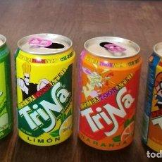 Coleccionismo de Coca-Cola y Pepsi: LOTE 4 LATAS TRINA MANZANA LIMON NARANJA PIÑA 0,33 L. BOTE CAN TRINARANJUS CARTOON NETWORK LAS SUPER. Lote 131081808