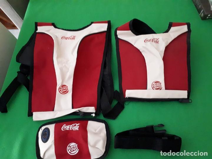 DOS MOCHILAS Y UNA RIÑONERA BURGER KING Y COCA COLA (Coleccionismo - Botellas y Bebidas - Coca-Cola y Pepsi)