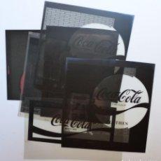 Coleccionismo de Coca-Cola y Pepsi: COCA-COLA 9 CLICHES NEGATIVOS ORGINALES PROCEDENTES DE LA IMPRENTA ORTEGA EN VALENCIA, AÑOS 1960-70. Lote 132639306
