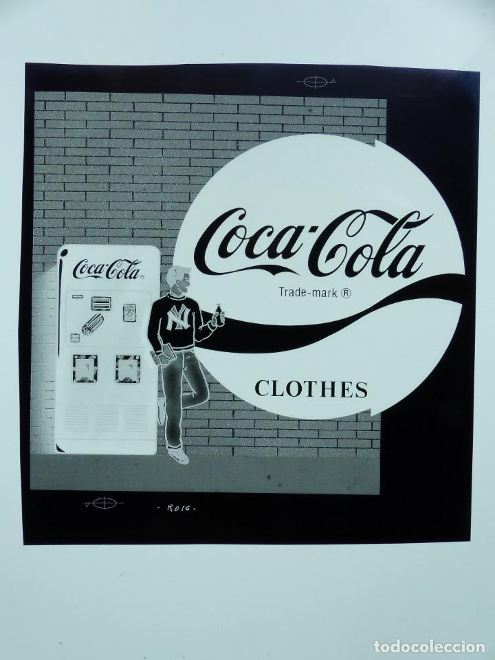 Coleccionismo de Coca-Cola y Pepsi: COCA-COLA 9 CLICHES NEGATIVOS ORGINALES PROCEDENTES DE LA IMPRENTA ORTEGA EN VALENCIA, AÑOS 1960-70 - Foto 2 - 132639306