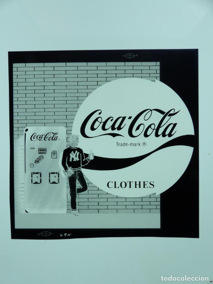 Coleccionismo de Coca-Cola y Pepsi: COCA-COLA 9 CLICHES NEGATIVOS ORGINALES PROCEDENTES DE LA IMPRENTA ORTEGA EN VALENCIA, AÑOS 1960-70 - Foto 3 - 132639306