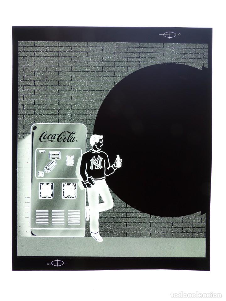 Coleccionismo de Coca-Cola y Pepsi: COCA-COLA 9 CLICHES NEGATIVOS ORGINALES PROCEDENTES DE LA IMPRENTA ORTEGA EN VALENCIA, AÑOS 1960-70 - Foto 4 - 132639306