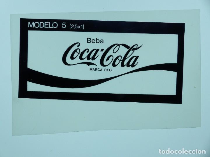 Coleccionismo de Coca-Cola y Pepsi: COCA-COLA 9 CLICHES NEGATIVOS ORGINALES PROCEDENTES DE LA IMPRENTA ORTEGA EN VALENCIA, AÑOS 1960-70 - Foto 5 - 132639306