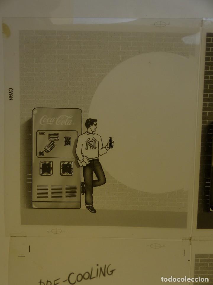 Coleccionismo de Coca-Cola y Pepsi: COCA-COLA 9 CLICHES NEGATIVOS ORGINALES PROCEDENTES DE LA IMPRENTA ORTEGA EN VALENCIA, AÑOS 1960-70 - Foto 9 - 132639306