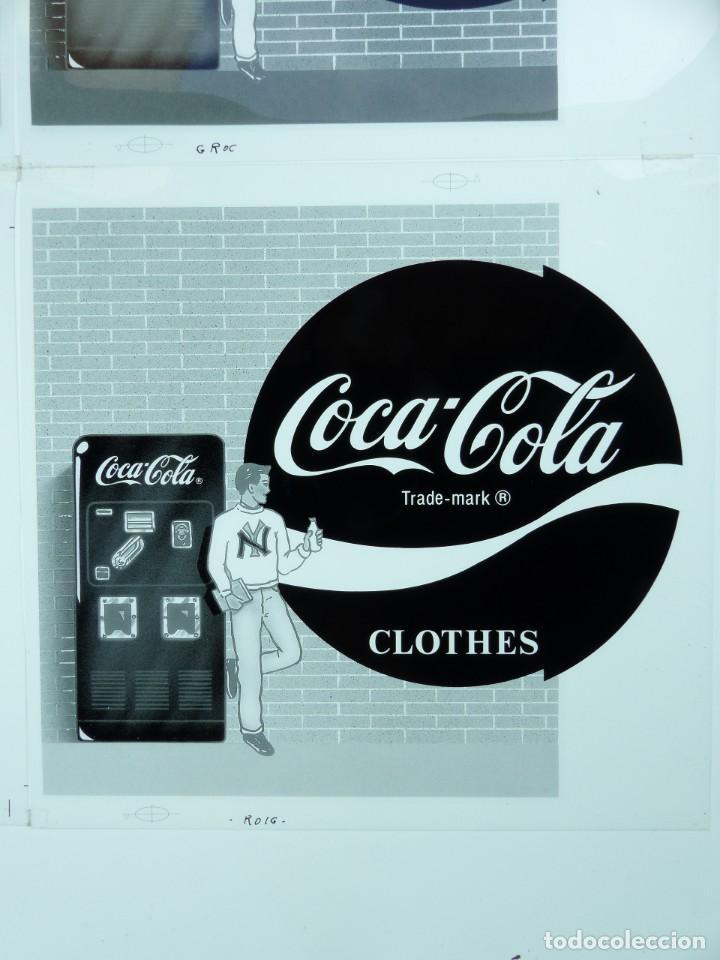 Coleccionismo de Coca-Cola y Pepsi: COCA-COLA 9 CLICHES NEGATIVOS ORGINALES PROCEDENTES DE LA IMPRENTA ORTEGA EN VALENCIA, AÑOS 1960-70 - Foto 11 - 132639306