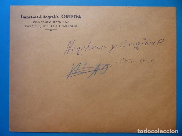 Coleccionismo de Coca-Cola y Pepsi: COCA-COLA 9 CLICHES NEGATIVOS ORGINALES PROCEDENTES DE LA IMPRENTA ORTEGA EN VALENCIA, AÑOS 1960-70 - Foto 12 - 132639306