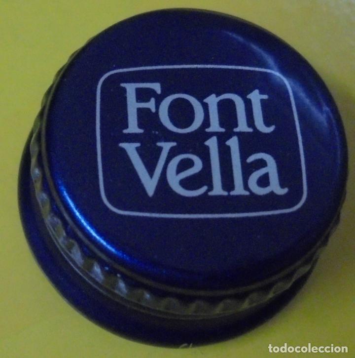 TAPON DE ROSCA DE AGUA FONT VELLA. METALICO (Coleccionismo - Botellas y Bebidas - Coca-Cola y Pepsi)