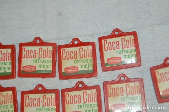 Coleccionismo de Coca-Cola y Pepsi: Lote de 15 antiguos llaveros holográficos VISTANIMADA - En su dorso publicidad COCA COLA - Años 60. - Foto 12 - 133620186