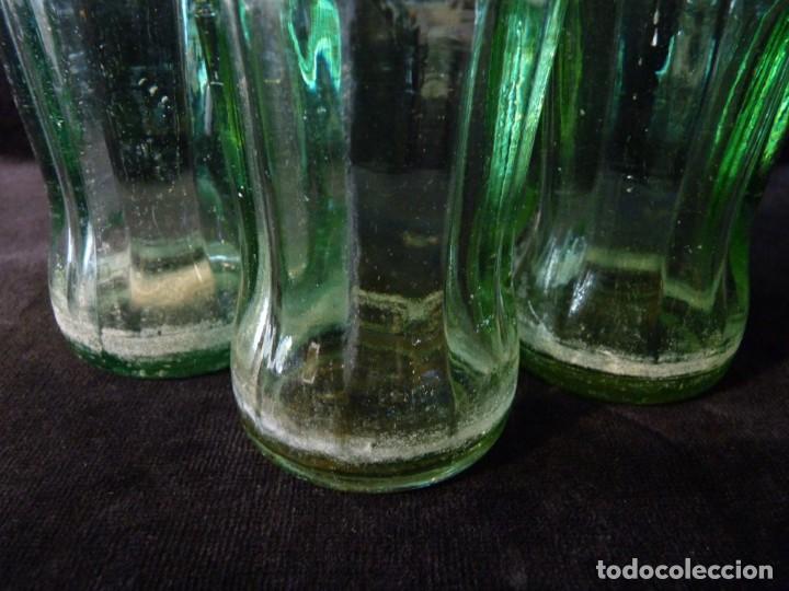 Coleccionismo de Coca-Cola y Pepsi: LOTE DE 3 BOTELLINES CRISTAL DE COCA COLA SERIGRAFIADOS. 19 CL. BOTELLA COCACOLA - Foto 6 - 133993042