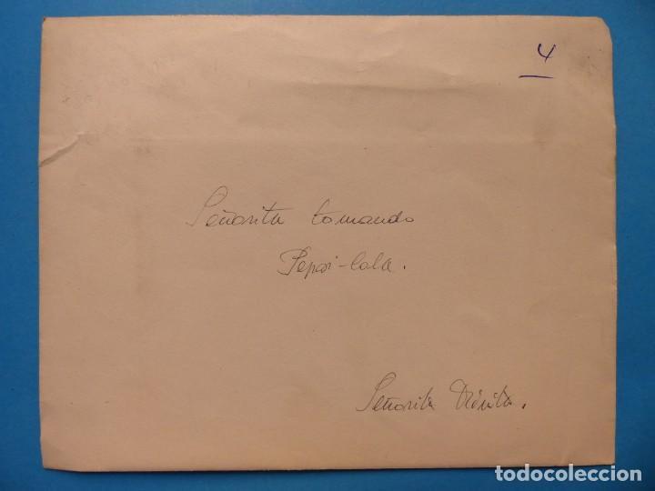 Coleccionismo de Coca-Cola y Pepsi: SEÑORITA TOMANDO UNA PEPSI - CLICHE POSITIVO A COLOR EN CELULOIDE DE LA LITOGRAFIA ORTEGA -AÑOS 1950 - Foto 2 - 134189534