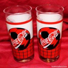 Coleccionismo de Coca-Cola y Pepsi: PAREJA VASOS COCA-COLA VINTAGE BALÓN. Lote 135494310