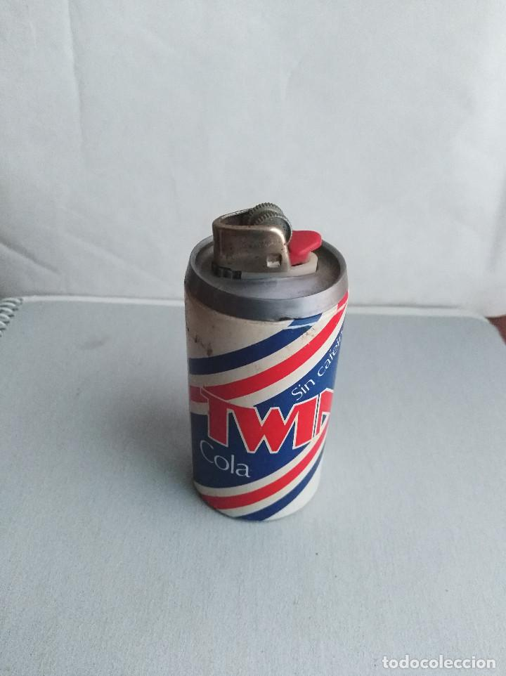 TWIN COLA SIN CAFEINA MECHERO BIC (Coleccionismo - Botellas y Bebidas - Coca-Cola y Pepsi)