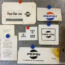 Coleccionismo de Coca-Cola y Pepsi: PEPSI - COLA - 7 PRUEBAS DE IMPRENTA ORIGINALES. AÑOS 80. Lote 136417610