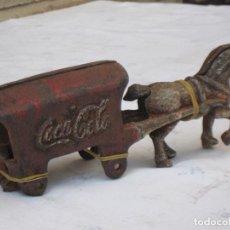 Coleccionismo de Coca-Cola y Pepsi: CARRO ANTIGUO METALICO PUBLICIDAD COCA COLA. UNICO EN VENTA.. Lote 136643422