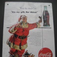 Coleccionismo de Coca-Cola y Pepsi: CARTEL DE CHAPA COCA - COLA. COKE. Lote 137362718