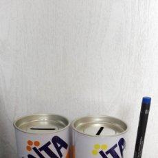 Coleccionismo de Coca-Cola y Pepsi: DOS HUCHAS FANTA NARANJA FANTA LIMON. Lote 139408138