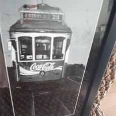Coleccionismo de Coca-Cola y Pepsi: CARTEL COCA COLA PUBLIDAD TRANVIA DE LISBOA. ENMARCADO. Lote 139717074
