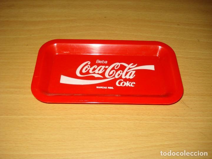 COCA-COLA COKE BANDEJA PLASTICO PEQUEÑA PARA APERITIVOS (Coleccionismo - Botellas y Bebidas - Coca-Cola y Pepsi)
