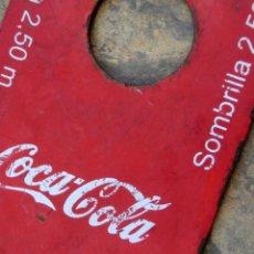 Coleccionismo de Coca-Cola y Pepsi: PIEZA DE COCA-COLA - PLANCHA DE HIERRO - PUBLICIDAD - SOMBRILLA - ABREBOTELLAS - RARO - COLECCIÓN. Lote 140430602