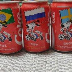 Coleccionismo de Coca-Cola y Pepsi: LATAS MUNDIAL 1992. Lote 140517970