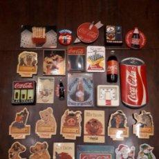 Coleccionismo de Coca-Cola y Pepsi: COLECCIÓN 27 IMANES DE NEVERA COCA-COLA. Lote 140520450