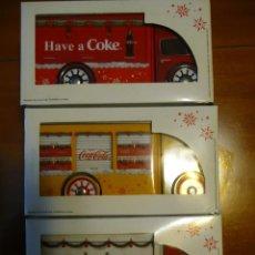 Coleccionismo de Coca-Cola y Pepsi: TRES CAMIONES DIFERENTES DE LATA PROPAGANDA NAVIDEÑA COCA-COLA 2017. COMPLETOS CON CAJA.NUEVOS.PROMO. Lote 141108762
