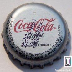 Coleccionismo de Coca-Cola y Pepsi: TAPÓN CORONA - CHAPA - ESPAÑA (VALENCIA) - COCA-COLA LIGHT. Lote 141333006