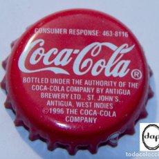 Collezionismo di Coca-Cola e Pepsi: TAPÓN CORONA - CHAPA - ANTIGUA (WEST INDIES) - COCA-COLA - AÑO 1996. Lote 141334066