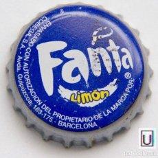 Coleccionismo de Coca-Cola y Pepsi: TAPÓN CORONA - CHAPA - REFRESCO - ESPAÑA (BARCELONA) AVDA. GUIPÚZCOA - FANTA LIMÓN. Lote 141845158